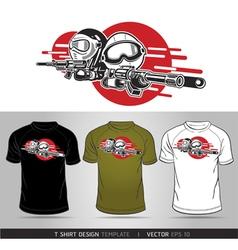 T-shirt cartoon design vector image