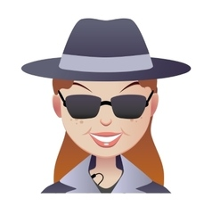 Mystery secret shopper woman face vector image vector image