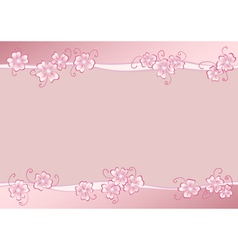 Pink flowers copy vector image vector image
