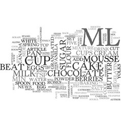 White chocolate carousel cake text word cloud vector