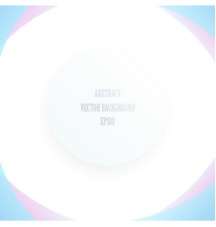 abstract circle frame on white background vector image vector image