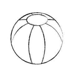 Beach balloon isolated icon vector