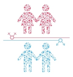 Gay and lesbian couple vector image