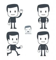 greeting icon man vector image vector image