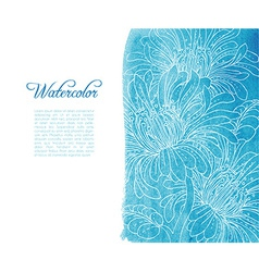 Template card with watercolor and floral vector image
