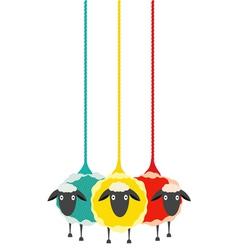 Three Yarn Sheep vector image vector image