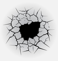 cracks circle hole vector image vector image