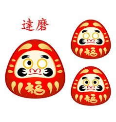 Japanese Daruma dolls vector image