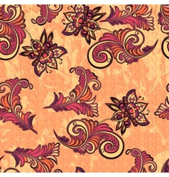 Seamless abstract retro pattern vector image