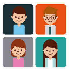 set of people business avatar employee vector image
