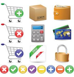 web shop icon set vector image vector image