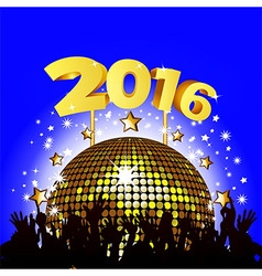 2016 New Year party vector image