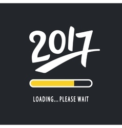 2017 is loading Please Wait vector