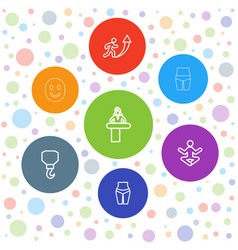 7 figure icons vector