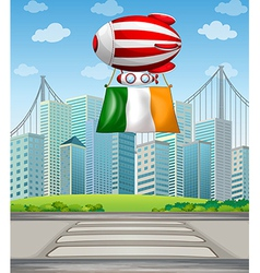 A floating balloon with the Ireland flag vector image