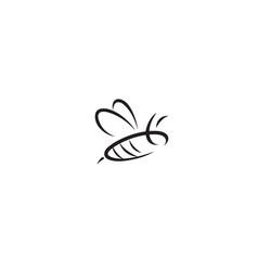 Abstract creative bumblebee lines logo design vector