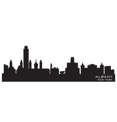 Albany New York skyline Detailed silhouette vector image