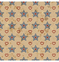 American vintage seamless pattern vector