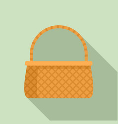Basketry icon flat style vector