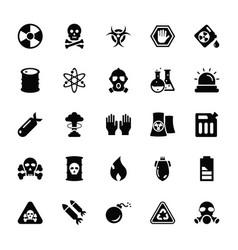 biohazard glyph icons set vector image