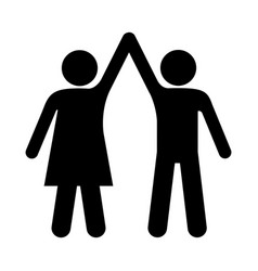 black silhouette pictogram man and woman taken of vector image vector image