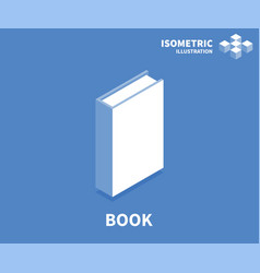 book icon isometric template for web design vector image