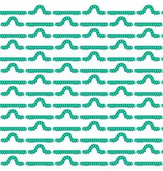 Caterpillar larva pattern vector image