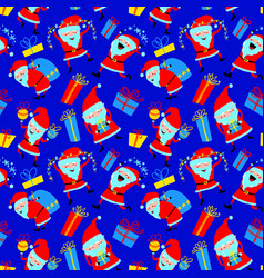 Christmas seamless pattern background with cute vector