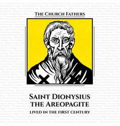 Church fathers saint dionysius areopagite vector