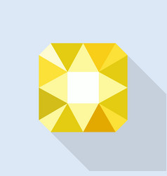 citrine icon flat style vector image