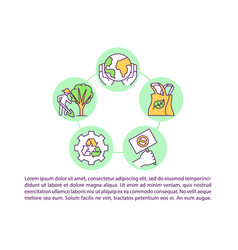 Climate change respinsibility concept icon vector