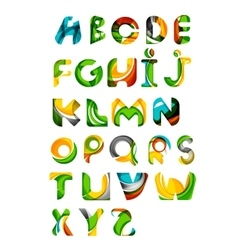 Collection of alphabet letters logos design vector image