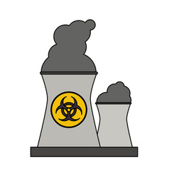 color graphic industrial factory icon biohazard vector image