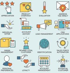 Customer relationship management - part 3 vector
