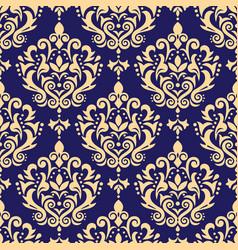 damask seamless pattern victoraian textile vector image
