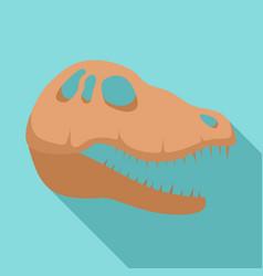 Dinosaur skull head icon flat style vector