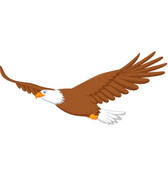 eagle cartoon flying vector image