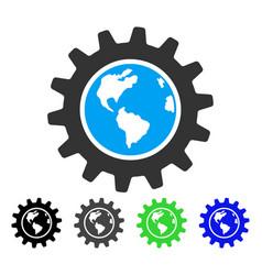 Earth engineering flat icon vector