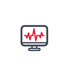 Ecg electrocardiography heart diagnostics icon vector