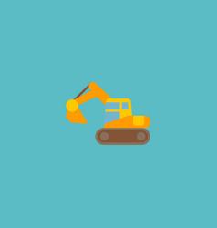 Excavator icon flat element vector