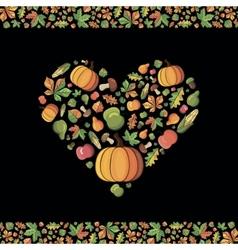 Fall season card vector image