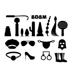 Fetish sign Sex icons for BDSM Sextoys for xxx vector