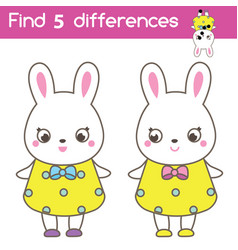 find differences educational children game vector image