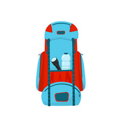 flat icon of large blue-red backpack vector image