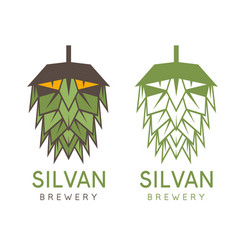 Forest abstract man in a form hop design vector