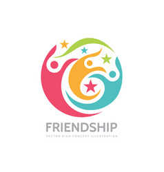 friendship - business logo template concept vector image