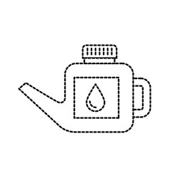 fuel canister gasoline can handle drop vector image