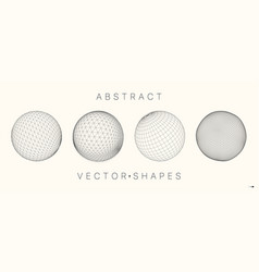 geometric shape for design 3d technology style vector image