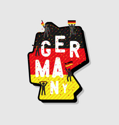 germany map and soccer or football fans cheering vector image