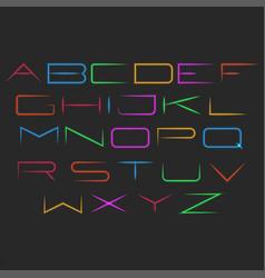 glowing neon font typography mockup set of vector image